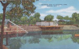 Swimming Pool At Municipal Park, MARION, Ohio, 1930-1940s