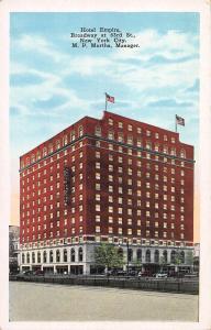 Hotel Empire, Manhattan, N.Y.C., N.Y., Early Postcard, Unused