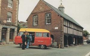 Llangurig Royal Mail Van Postman in Post Bus Wales Llanidloes Welsh Postcard