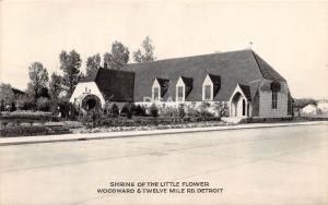 C35/ Detroit Michigan Mi Real Photo RPPC Postcard c1940s Shrine of Little Flower