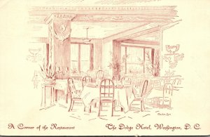 Washington D C Dodge Hotel A Corner Of The Restaurant 1936
