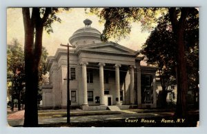Rome NY, Court House, Vintage New York c1910 Postcard