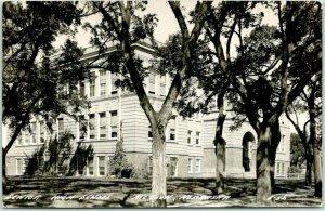 McCOOK, Nebraska RPPC Real Photo Postcard SENIOR HIGH SCHOOL c1940s Unused