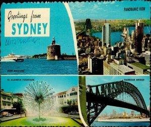 JD0011 australia sydney el alamein fountain harbour bridge fort denison ship