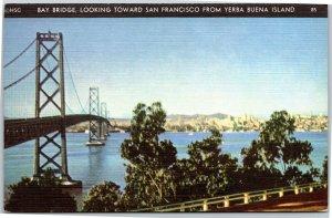Bay Bridge, Looking Toward San Francisco from Yerba Buena Island 1939