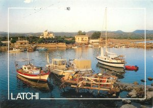 Cyprus Postcard Latchi harbor fishing boats