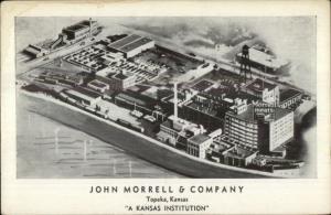 Topeka KS John Morrell & Co Aerial View 1930s-40s Postcard