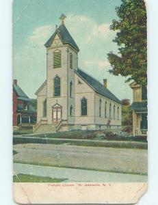 Pre-1907 CATHOLIC CHURCH St. Johnsville - Near Herkimer & Utica NY A2518