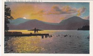 New York Lake George The Morning Plunge