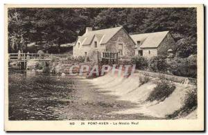 Old Postcard Pont Aven water mill The new mill