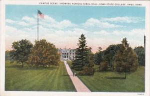 Iowa Ames Campus Scene Showing Agricultural Hall Iowa State College Curteich