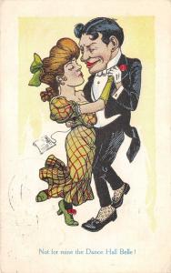Comic~Not Mine for the Dance Hall Belle~Shady Couple Dancing~Artist~1910 PC