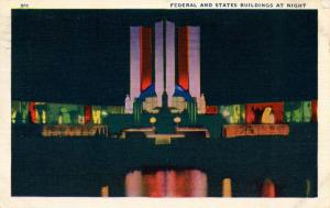IL - Chicago. 1933 World's Fair-Century of Progress. Hall of States and Feder...