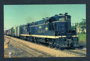IL ILLINOIS Central Railroad Train Loco 9080 & 9198 TOLONO Postcard RR