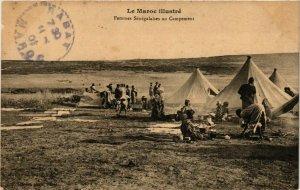 CPA AK Femmes Senegalaises au Campement MAROC (825220)