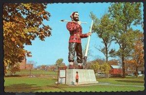 Maine BANGOR This Mammoth Statue of the Legendary Paul Bunyan - Chrome