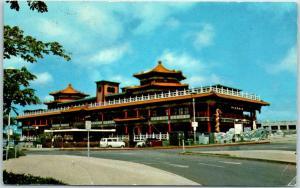 Honolulu, Hawaii Postcard THE OCEANA, Floating Restaurant w/ 1976 Cancel