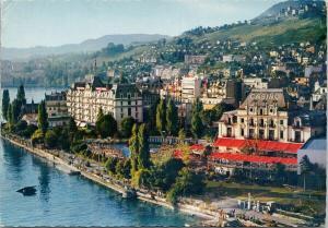 Montreux Le Casino et l'Hotel Eden Switzerland Hotel UNUSED Postcard D91