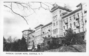 Danville New York Physical Culture Hotel Real Photo Antique Postcard K86574