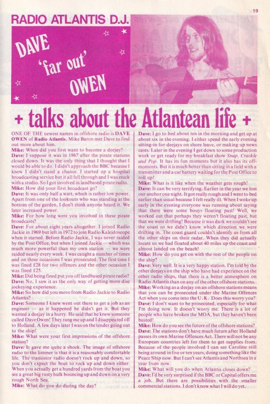 Radio Atlantis Pirate Ship Dave Symonds Capitol DJ Australia Magazine