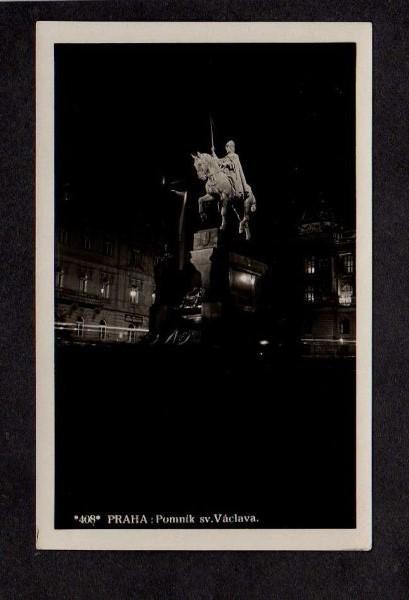 Praha Prague Vaclava Czechoslovakia Postcard Real Photo RPPC Ceskoslovensko
