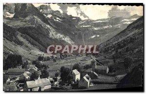 Old Postcard Gavarnie Village and Cirque