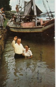 PARA , Brazil , 1950-60s ; Christian Baptism in Amazon River