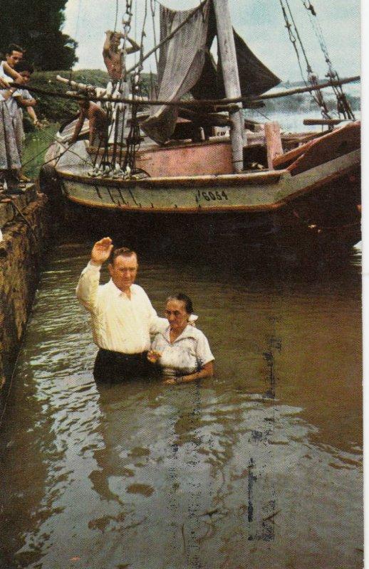 PARA , Brazil , 1950-60s ; Christian Baptism in Amazon River