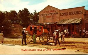 Kansas Dodge City Boot Hill Front Street Stage Coach Hold Up and Shoot Out