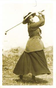 Nostalgia Postcard Womens Golf Fashion, Portrush, Co. Antrim 1911 Repro NS32