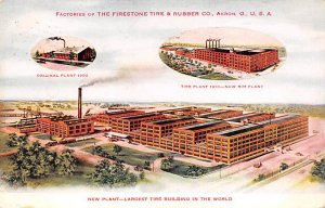 Advertising Post Card Firestone Tire & Rubber Co Akron, OH, USA 1912