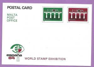 Malta #641-642 Europa Postal Card