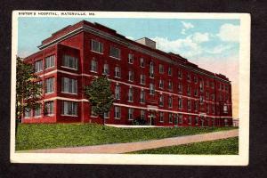 ME Vintage Sisters Hospital Waterville Maine Postcard PC Carte Postale