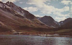 Airplane & fishermen, Tetsa River , Fort Nelson , B.C. , Canada , 50-60s