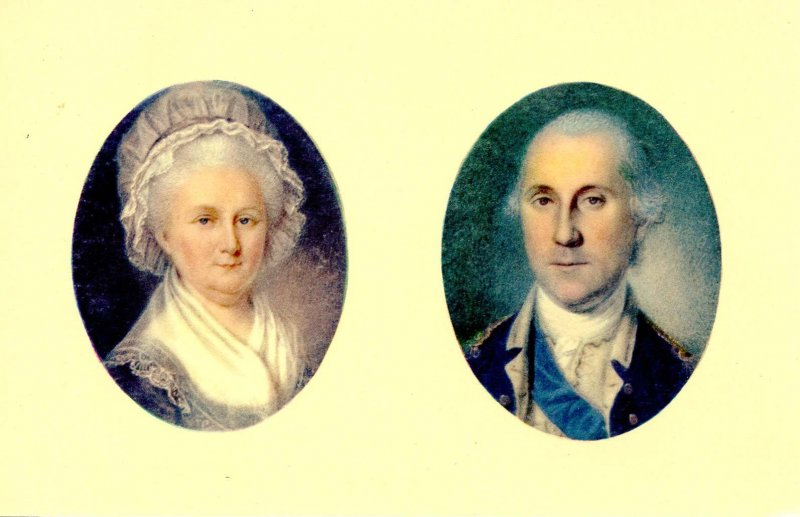 Portraits of George and Martha Washington