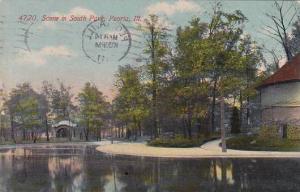 Illinois Peoria Scene In South Park 1911