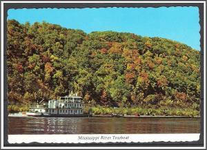 Iowa McGregor Mississippi River Towboat - [IA-022X]