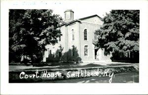 Vtg Postcard RPPC 1940s Smithland Kentucky KY Livingston County Courthouse UNP