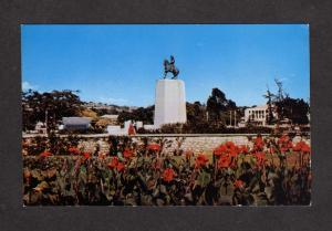Champ de Mars Port au Prince Haiti West Indies Postcard Statue Port-au-Prince