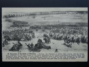 Panorama of BATTLE OF WATERLOO 12 Chasseurs a Cheval c1912 Postcard by P.I.B.