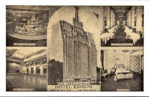 New York City Hotel Edison Green Room Bar Dining Room Ball Room & Chamber