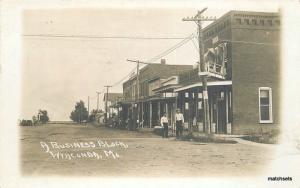 1919 Wyaconda Clark Missouri Street View Business Block Hardware RPPC Real Photo