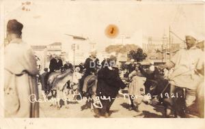 C53/ Tangier Morocco Foreign RPPC Postcard c1920 Soldiers Donkeys Natives