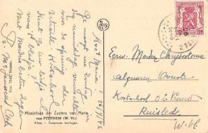 Kilwa Tanzania Mission House Students Antique Postcard J55994