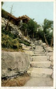 AZ - Grand Canyon National Park. Hermit's, The Stairs    (Fred Harvey)