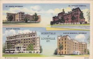 St. Joseph Infirmary, Baptist Hospital, St. Anthony Hospital, Norton Memorial...