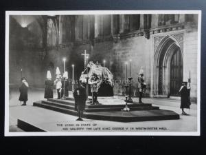 The Lying in State of His Majesty The Late King George V in Westminster Hall RP