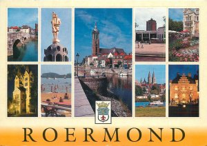 Postcard Netherlands Roermond diverse pics collage crest