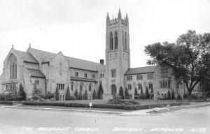 Beatrice Nebraska~Methodist Church~Route 77 Sign~Short Street Sign~1940s RPPC