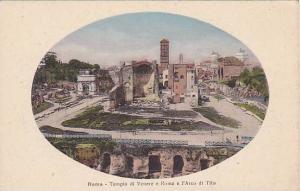 Roma, Tempio di VEnere e Roma e l' Arco di Tito, Lazio, Italy, 10-20s